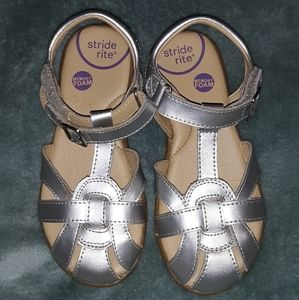 Stride Rite Memory Foam Sandals Girls Size 12W